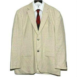 Tasso Elba Linen Sport Coat 45-47 L 2 Button